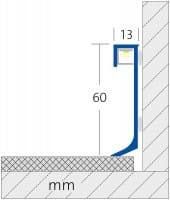 Zeichnung Bemaßung LED Sockelleiste
