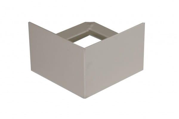 Eckstück für Balkonprofil T-Form 55 mm beige