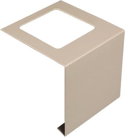 Balkonverbinder L-Form Aluminium beschichtet beige