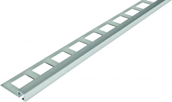 Quadratprofil aus Aluminium 250 cm 7 mm silber eloxiert