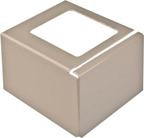 Eckstück für Balkonprofil L-Form Aluminium 55 mm beige