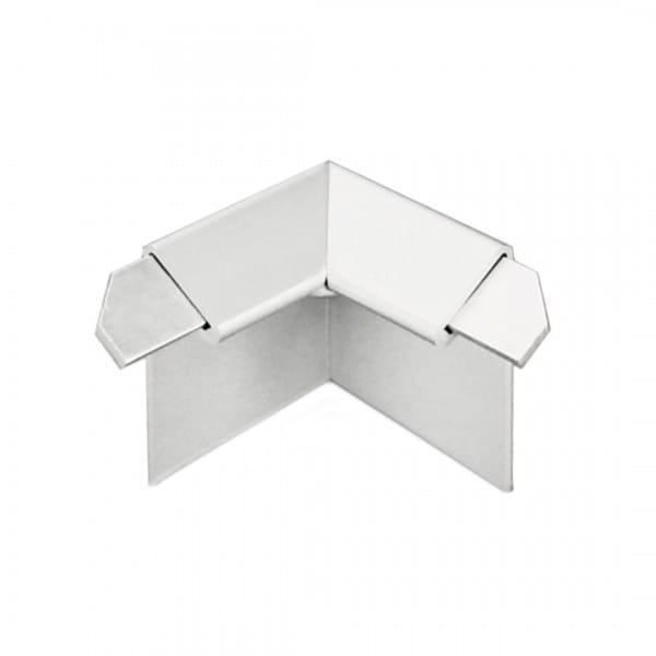 Innenecke für Balkonwinkelprofil mit Tropfkante silber eloxiert 18 mm