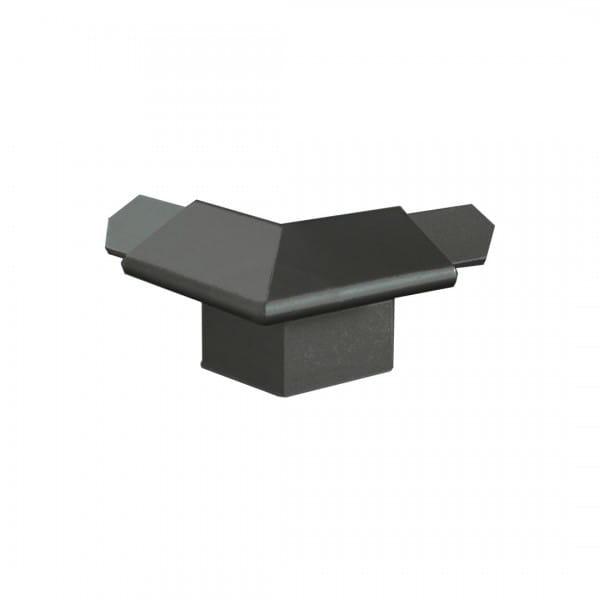 Außenecke für Balkonwinkelprofil mit Tropfkante anthrazit 18 mm