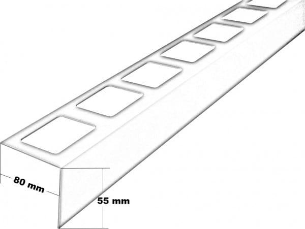 Balkonprofil aus Edelstahl in L-Form 300 cm 55 mm