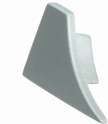 Endkappen für Anschlussprofil (Blister) silber, H= 8 mm, links