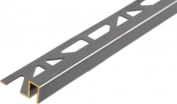 Quadratprofil Messing 8mm Breite Rauchchrom