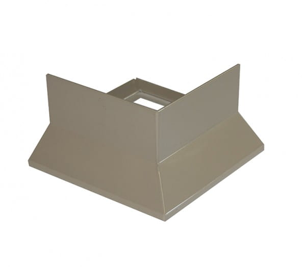 Eckstück für Balkonprofil Y-Form Dickbett 65 mm beige