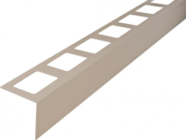 Balkonprofil L-Form Aluminium 300 cm 55 mm beige
