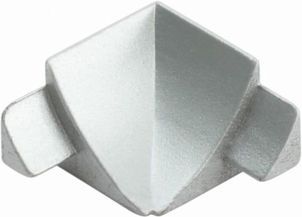 Innenecken für Anschlussprofil (Blister) silber, H= 8 mm