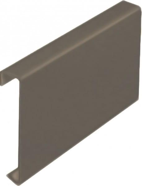 Balkonverbinder ohne Tropfkante Aluminium beschichtet beige