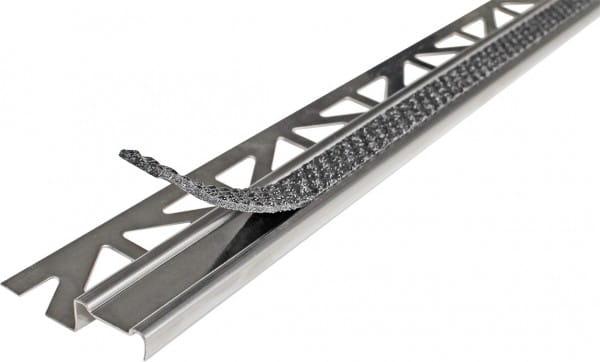 Treppenprofil aus Aluminium mit Antirutschbeschichtung 250 cm 9 mm anthrazit Aluminium/PVC