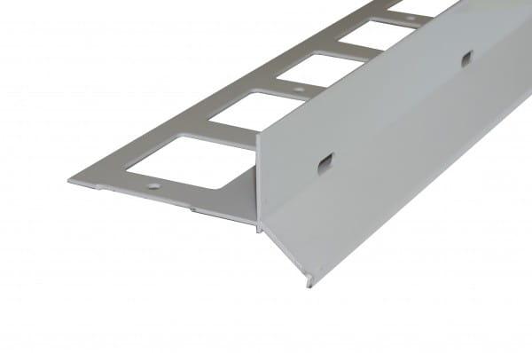 Balkonprofil Y-Form für Splitt und Kies 53 mm grau