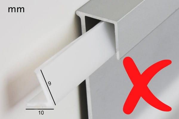 Zeichnung Falsch LED Sockelleiste Abdeckung
