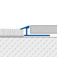 Anpassungsprofil mit schmaler Sichtkante technische Zeichnung 2