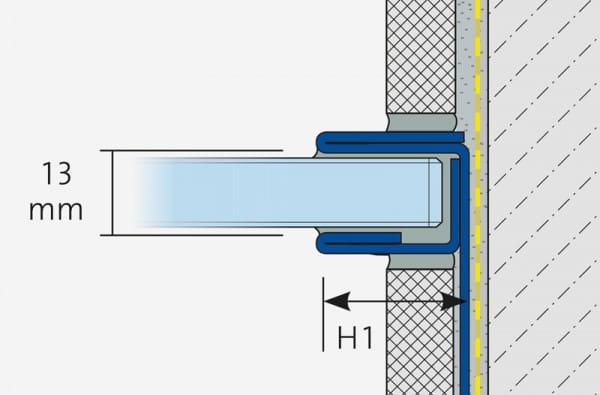 U-Profil zur Glasaufnahme Zeichnung
