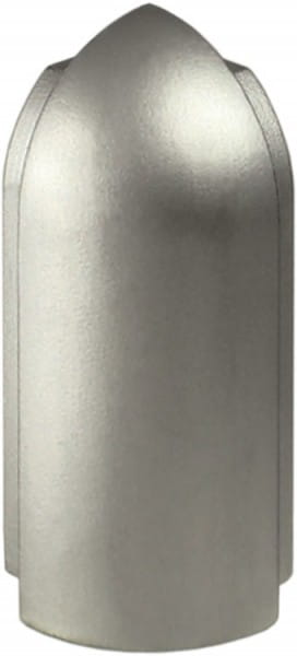 DURAL Außenecken für Arbeitsplattenprofile 9 mm silber eloxiert (matt)