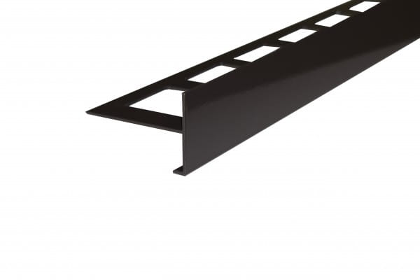 Balkonprofil ohne Tropfkante Aluminium beschichtet grau-braun