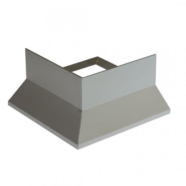 Eckstück Balkonprofil Y-Form Splitt und Kies grau