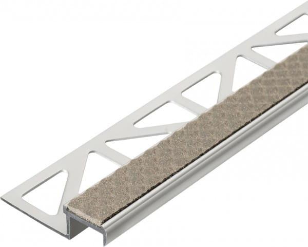 Treppenprofil aus Aluminium mit Antirutschbeschichtung 250 cm 9 mm sand Aluminium/PVC