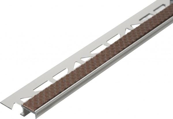 Treppenprofil aus Aluminium mit Antirutschbeschichtung 250 cm 9 mm kakao Aluminium/PVC