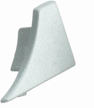 Endkappen für Anschlussprofil (Blister) silber, H= 8 mm, rechts