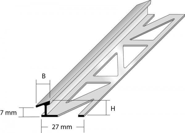 Anpassungsprofil mit schmaler Sichtkante