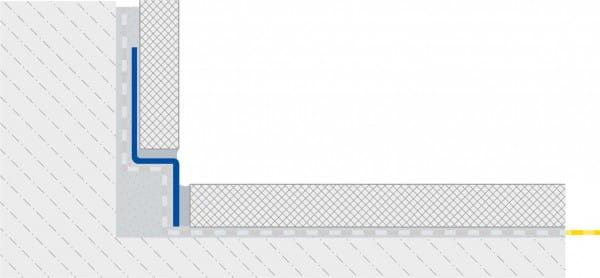 Gefällekeil zum Wandanschluss linke Seite technische Zeichnung