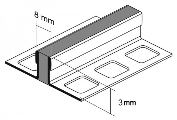 Zeichnung Dehnungsfugenprofil 3mm