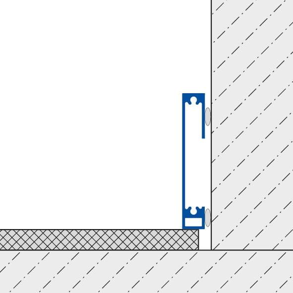 Sockelleiste Square Querschnitt Zeichnung